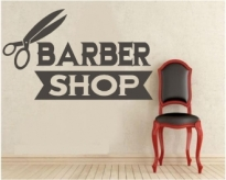 Autocolant Barber Shop