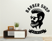 Autocolant decorativ Barber Shop