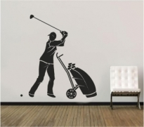Autocolant decorativ jucator de golf