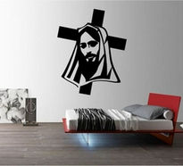 Sticker Jesus pe cruce