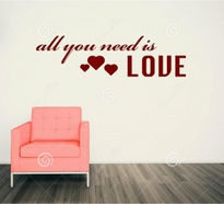 Sticker decorativ ALL YOU NEED IS LOVE