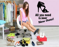 Sticker decorativ All you need is new shoes !!!