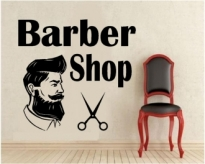 Sticker decorativ Barber Shop 1