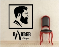 Sticker decorativ Barber shop 3