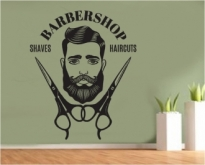Sticker decorativ Barbershop