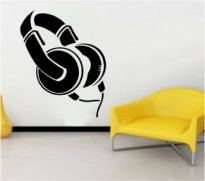 Sticker decorativ casti audio