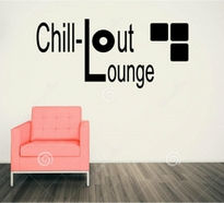 Sticker decorativ CHILL OUT LOUNGE