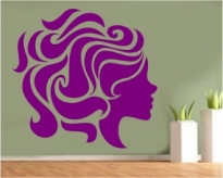 Sticker decorativ chip femeie