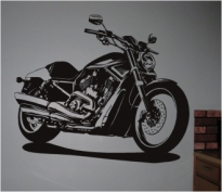 Sticker decorativ chopper