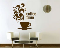 Sticker decorativ coffee time