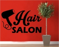 Sticker decorativ Hair Salon