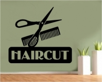 Sticker decorativ Haircut