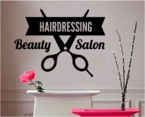 Sticker decorativ Hairdressing