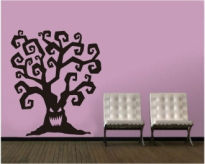 Sticker decorativ halloween tree