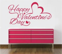 Sticker decorativ happy Valentines Day