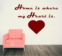 Sticker decorativ HOME IS WHERE MY HEART IS