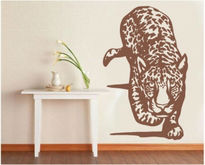 Sticker decorativ leopard la panda