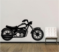 Sticker decorativ motocicleta chopper