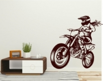 Sticker decorativ motociclista