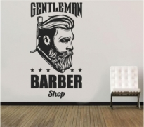 Sticker Gentleman Barber Shop