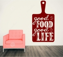 Sticker Good Food good life