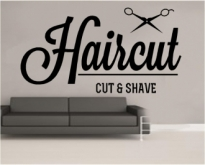 Sticker Haircut and shave