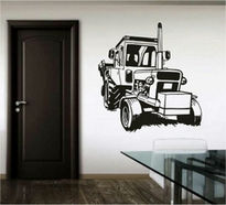 Sticker decorativ tractor