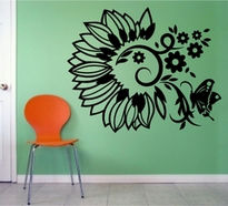 Sticker ornamental vegetal