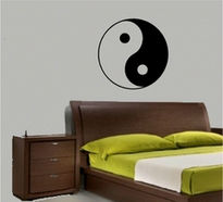 Sticker decorativ yin si yang