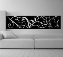 Sticker Tablou abstract