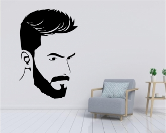 Sticker figura masculina salon barber shop