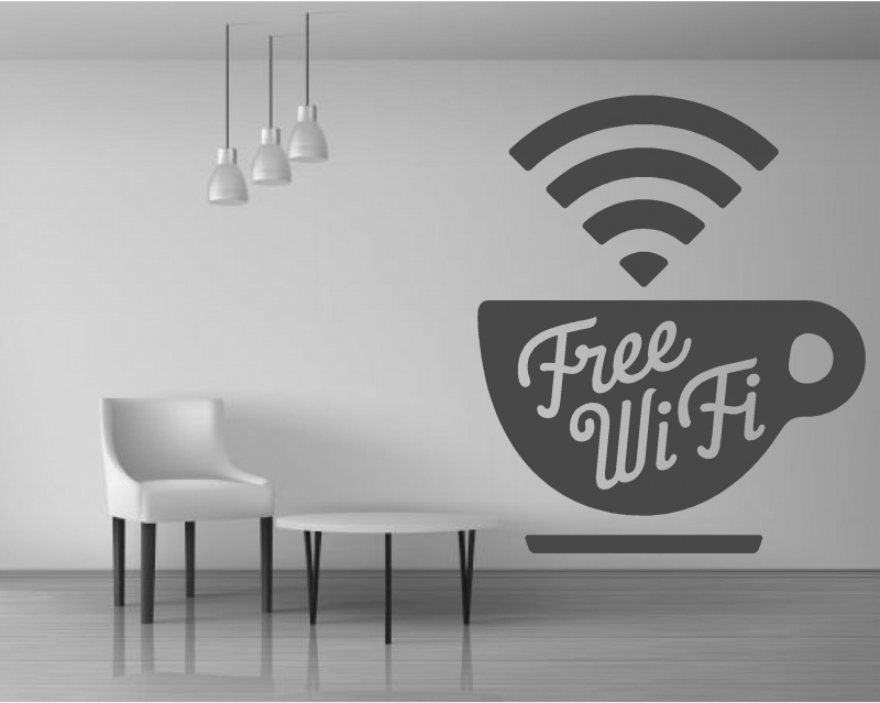 Sticker  Free Wifi Cafe