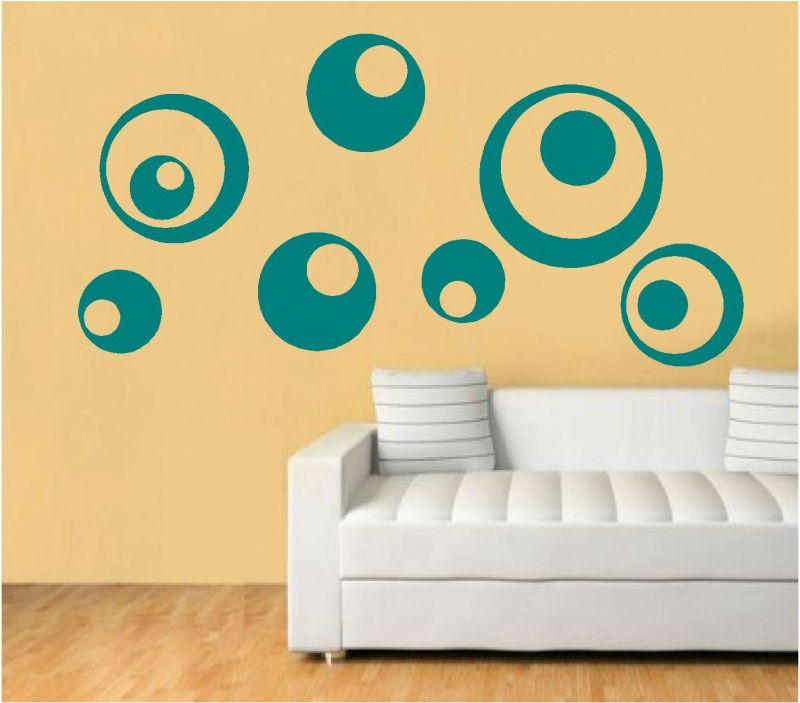 Sticker decorativ buline abstracte