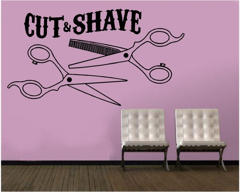 Sticker decorativ cut and shave