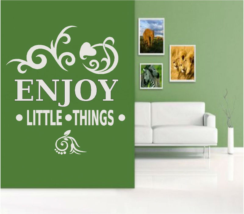 Sticker decorativ enjoy little things