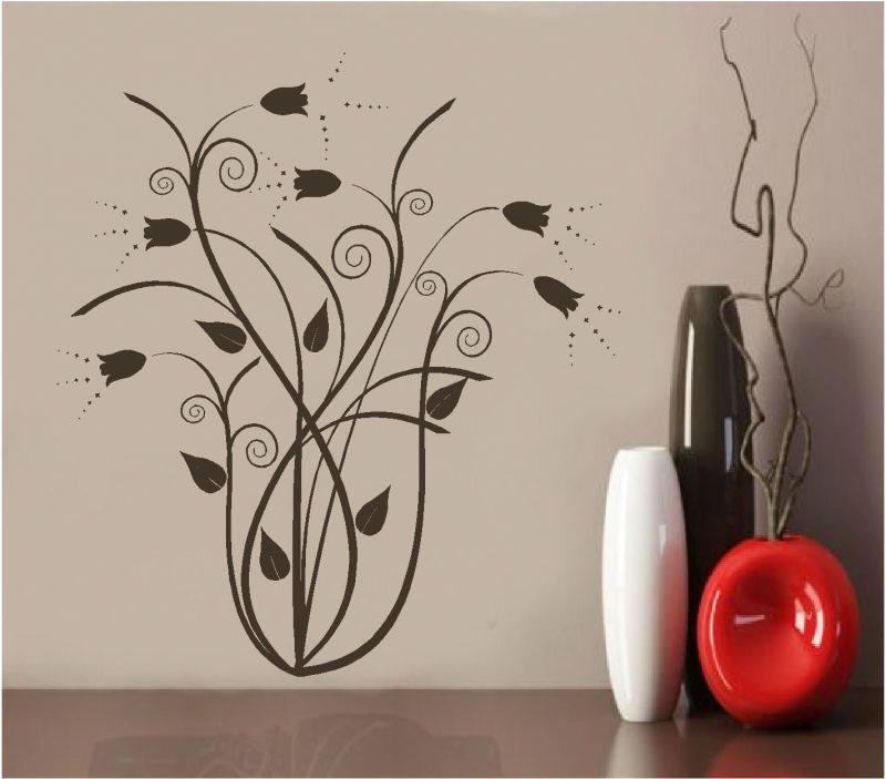 Sticker decorativ floral