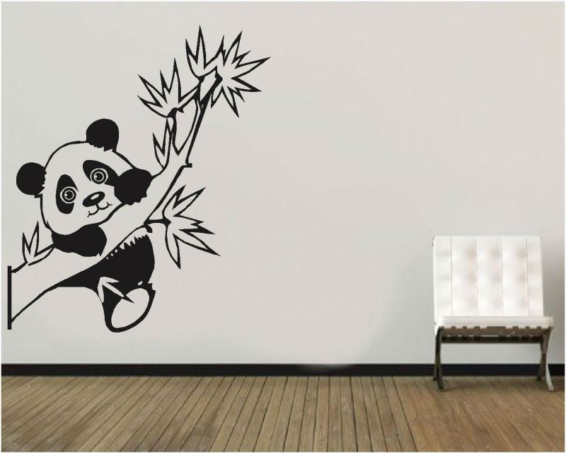 Sticker decorativ ursuletul panda