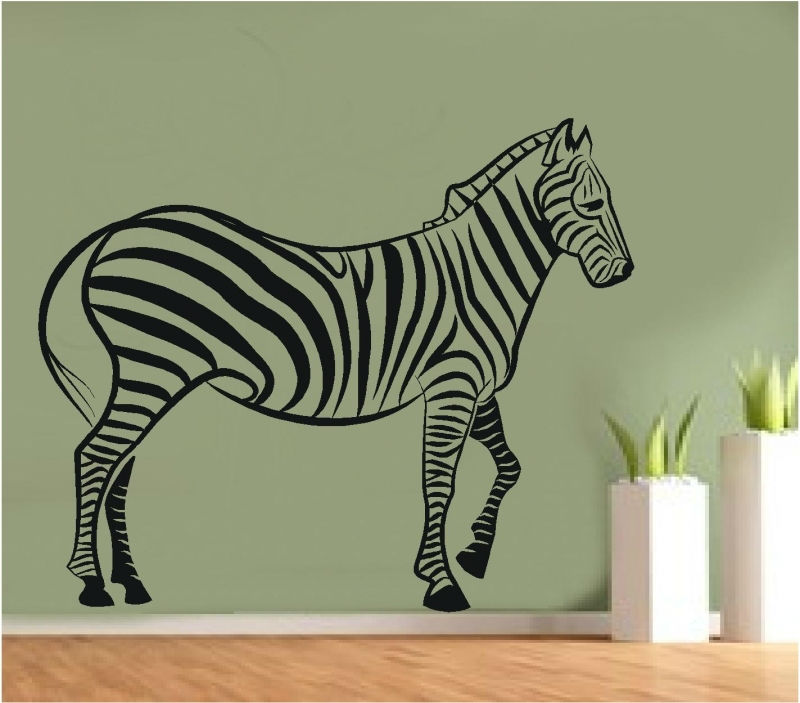 Sticker decorativ zebra