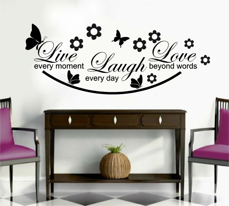 Sticker decorative Live Lough Love