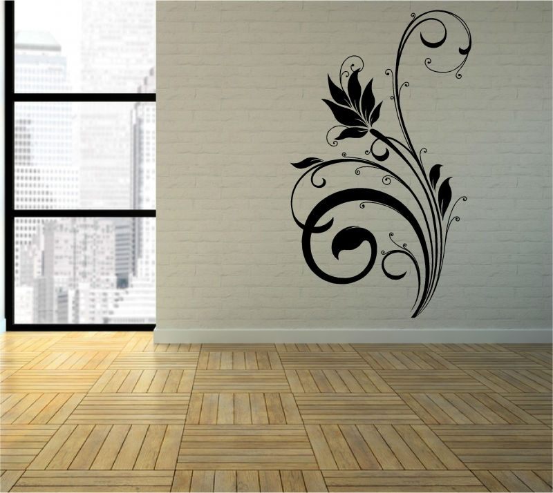 Sticker floare decorativa